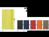 Črtasta beležka WOOD, A5 in A6, zapiranje z elastiko