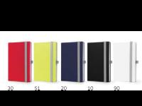 Črtasta beležka MONDO, A5 in A6, zapiranje z elastiko