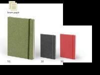 Črtasta beležka ECO, A5, zapiranje z elastiko