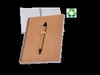 Črtasti blok iz recikliranega papirja A5, kemični svinčni
