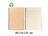 Črtasti blok iz recikliranega papirja A5