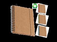 Črtasti blok iz recikliranega papirja z elastiko, trde  kartonske platnice