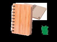 Črtasti blok 9 x 12 cm, platnice iz bambusa